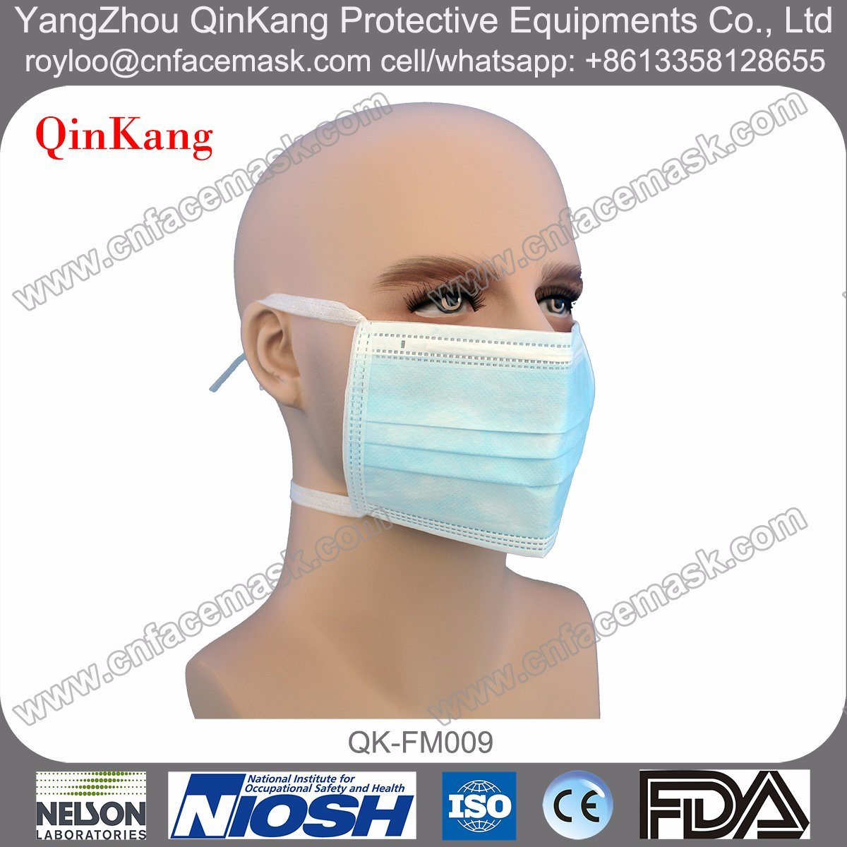Disposable Hospital Bfe99 Tie on Loop Surgical Face Mask