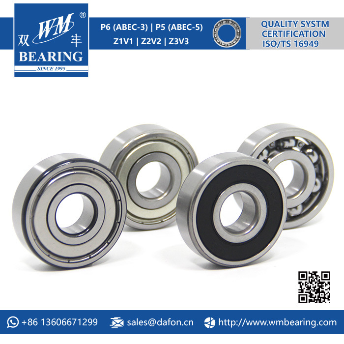 Chrome Steel Ceramic Deep Groove Ball Bearing (6302-2RZ)