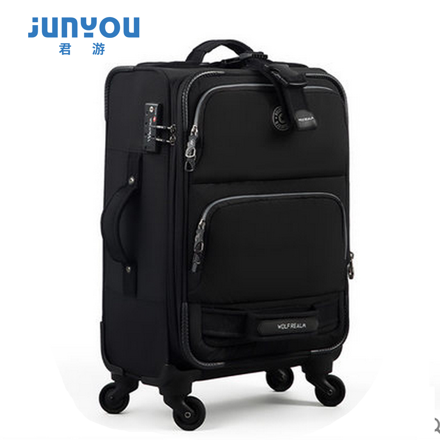 Latest Design Waterproof 4 Wheels 20′′ Soft Travel Luggage