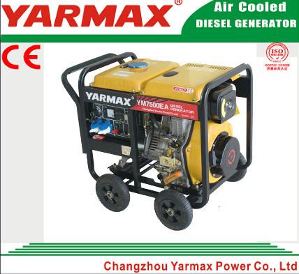 Yarmax Open Frame Single Phase 9kVA 9kw Diesel Genset Electric Generator