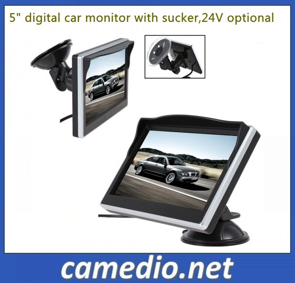 5inch Digital Display Windshield TFT LCD Car Monitor for Reversing Backup Camera DVD VCR