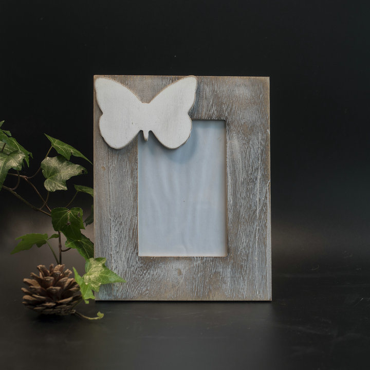 New Vintage Wooden Butterfly Photo Frame in MDF