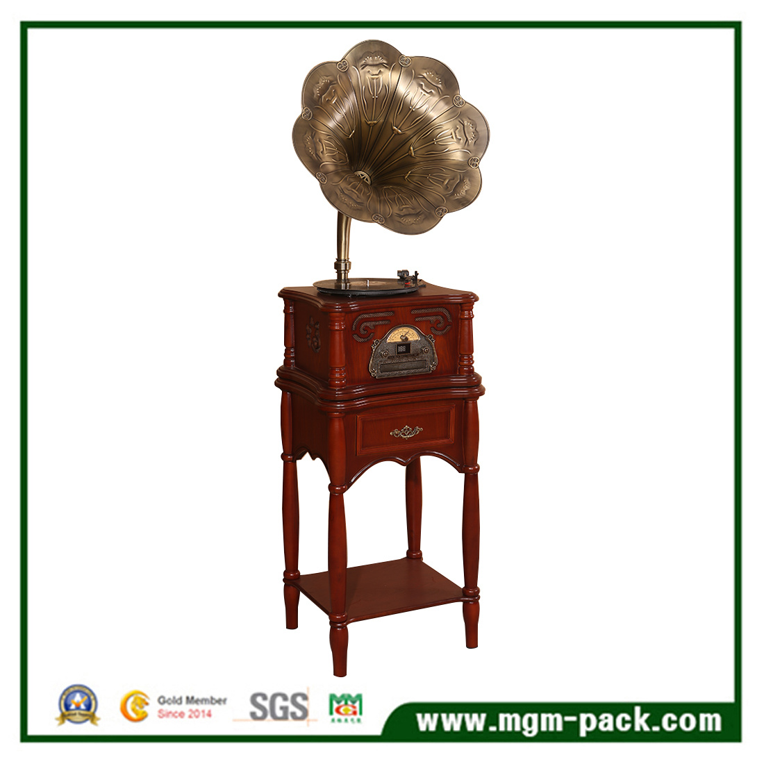 Wholesale Classical Wooden Phonograph with Horn