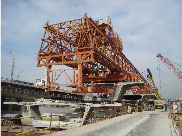 240t-40m Separate Parts of Bridge Launching Gantry Crane (JQ-01)