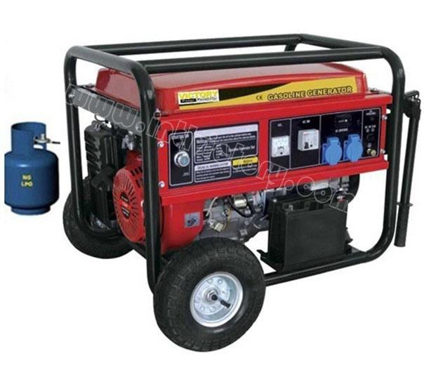 2kVA~7kVA LPG Liquefied Petroleum Gas Portable Generator