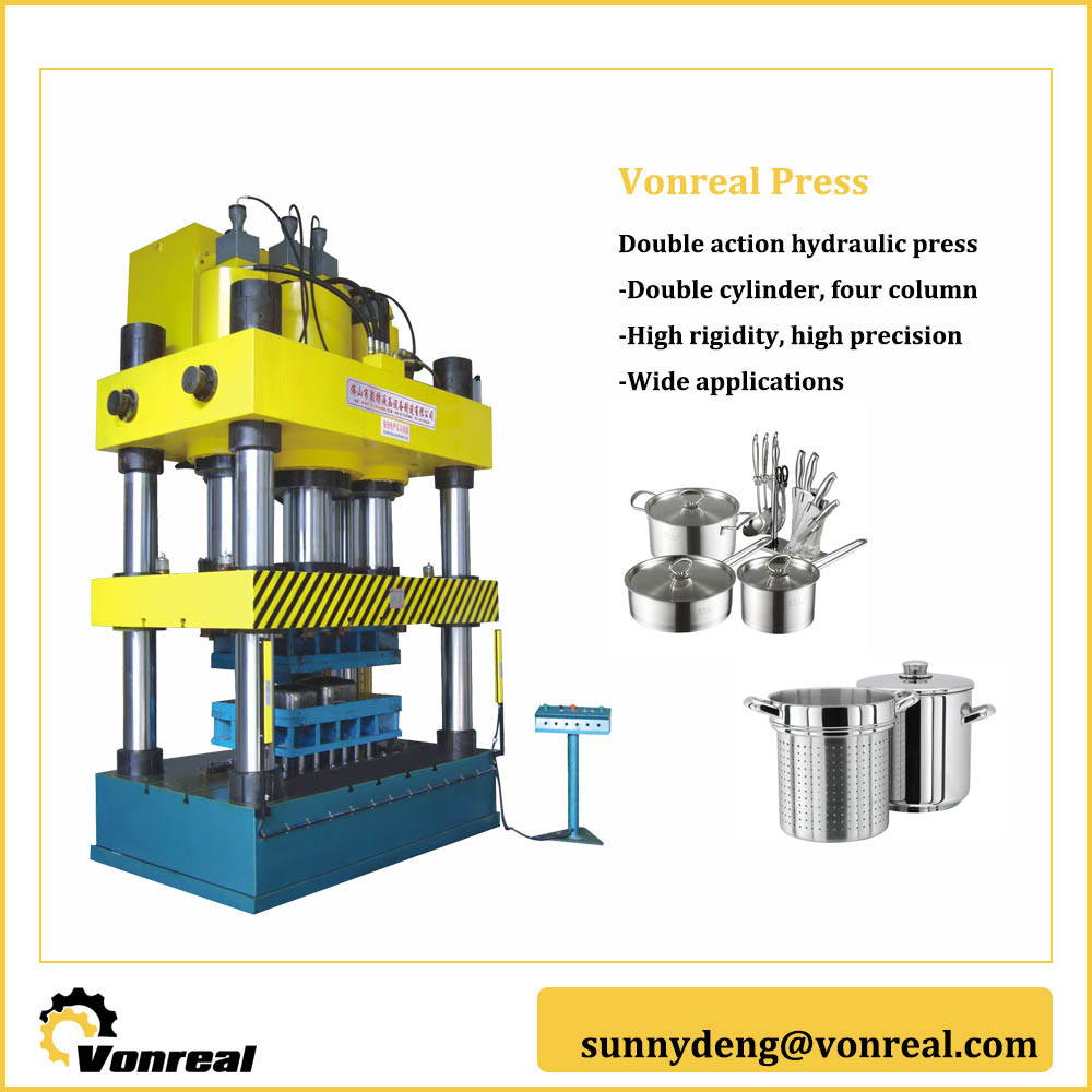 China Ya28 Four Column Double Action Hydraulic Metal Forming Press