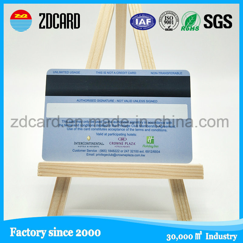Blank PVC ATM Card with Magnetic Strip