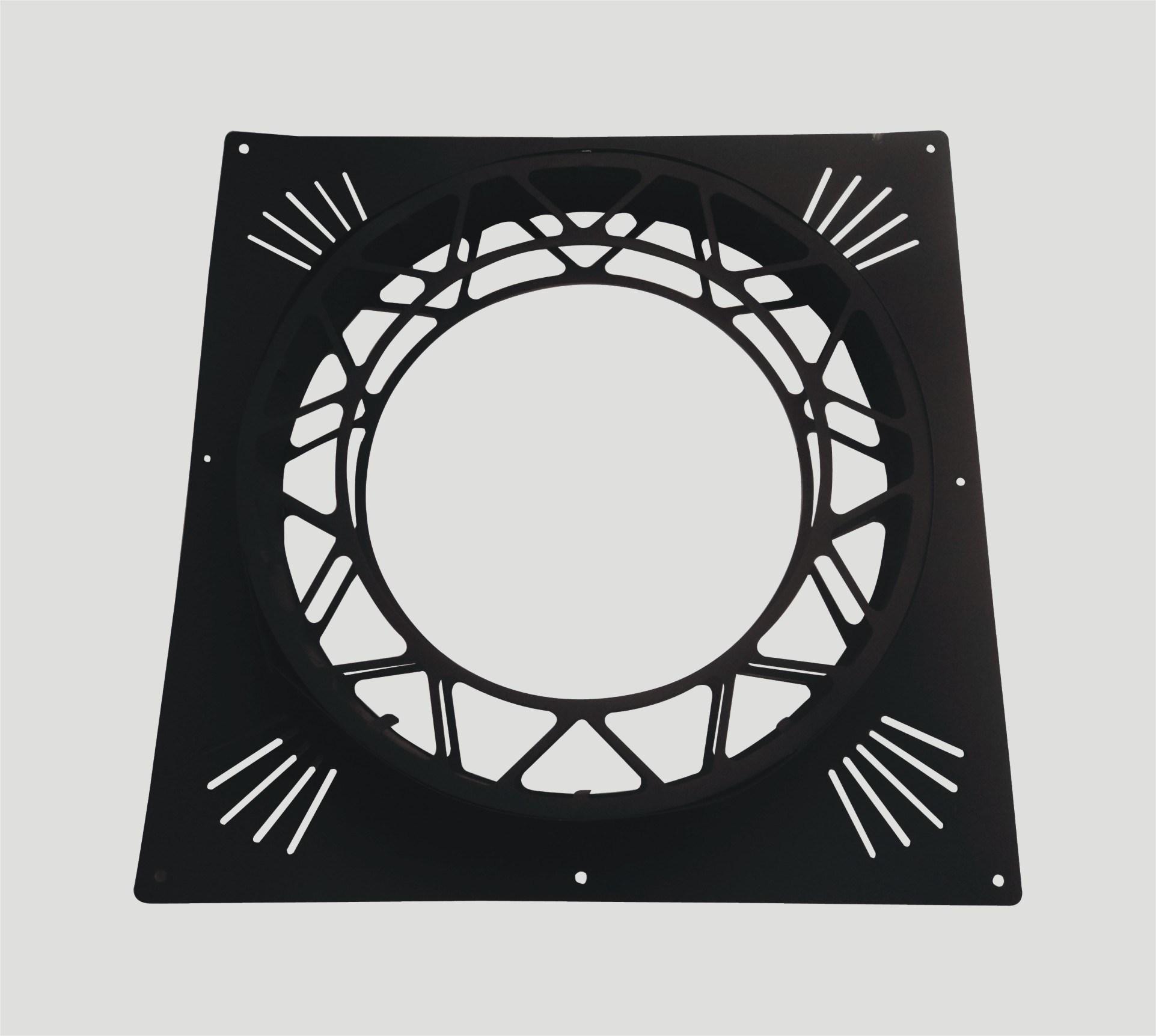 Firestop Black Fireproof Plate for Chimney