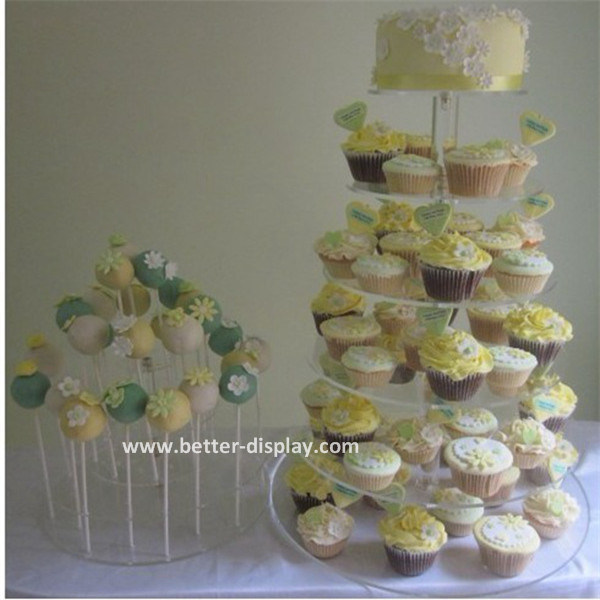 Acrylic Cupcake Display and Lollipop Display for Bakery (BTR-K3050)
