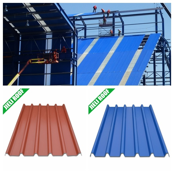 Long Span PMMA Coated Color Stable UPVC Roof Sheet