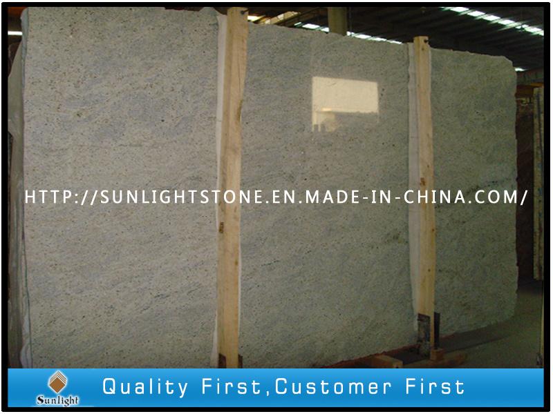 Natural Polished Kashmir White Granite for Kitchen Countertop, Bathroom Vanity Top