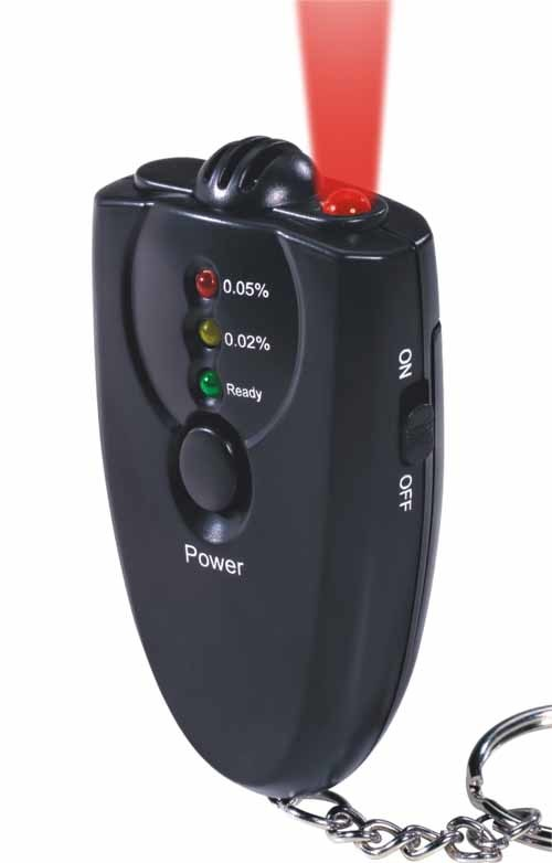 Digital Breath Alcohol Tester Breathalyzer Alcohol Tester with Key Chain (MTAT02)