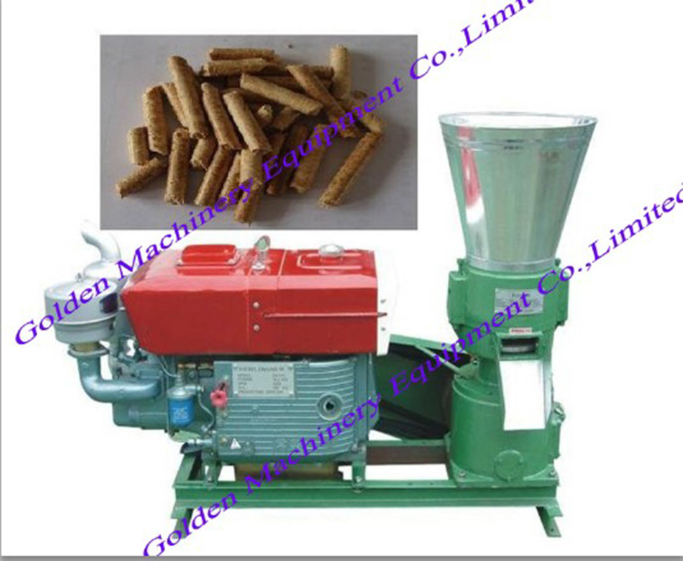 China Animal Feed Flat Die Wood Pellet Making Granulator Machine