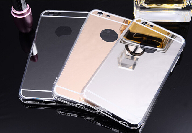 Newest Products Ultra-Thin Electroplating Soft TPU Cell/Mobile Phone Cover for iPhone 6 6s Mirror Case