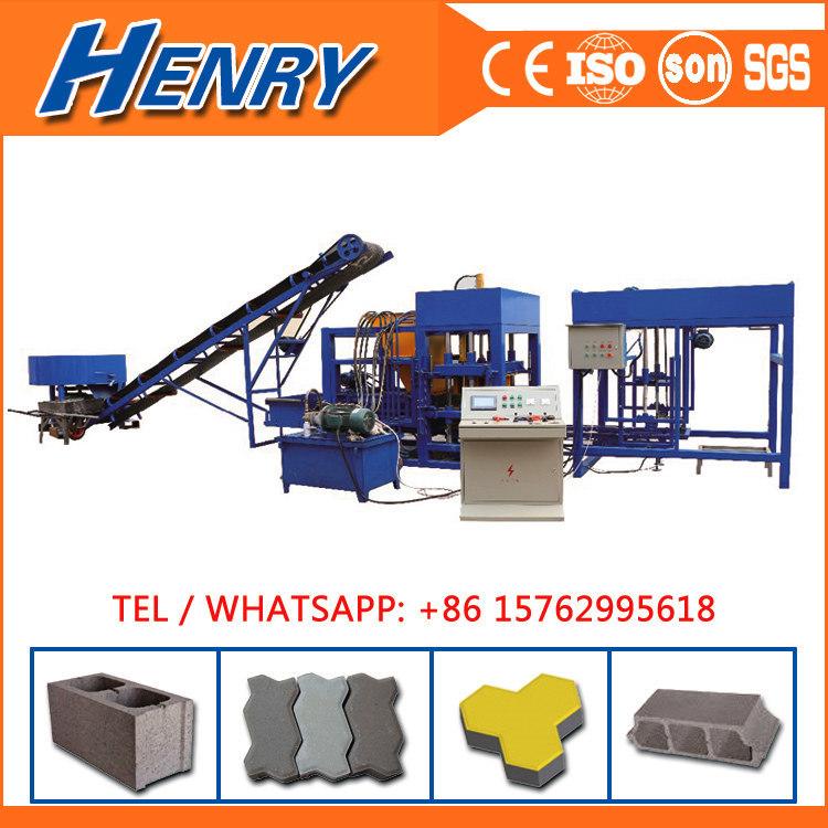 Qt4-20 Automatic Hydraulic Concrete Cement Hollow Block Making Machine Concrete Brick Machinery