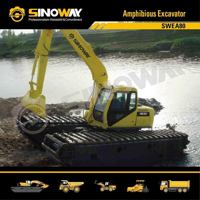 Sinoway Floating Excavator, Dredging Excavator, Swamp Excavator