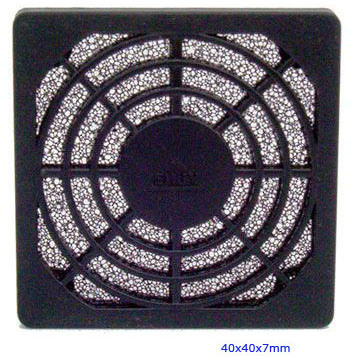 Plastic Fan Guard, Triple Dust Network, 40X40X7mm
