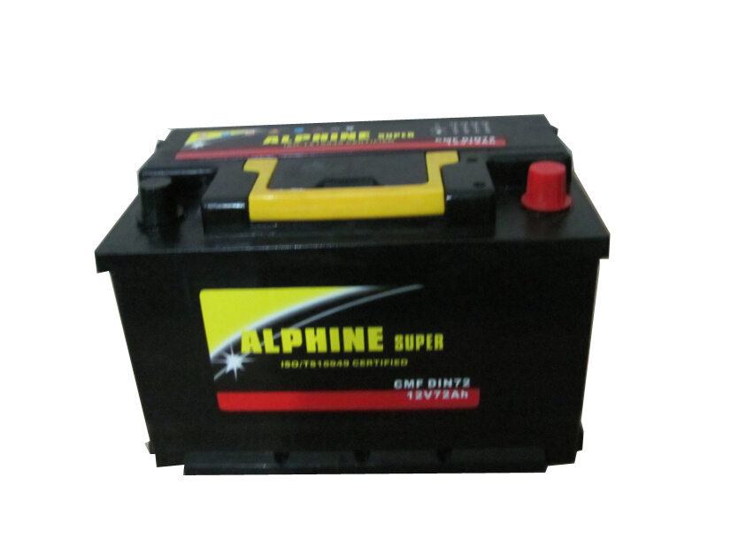 Mf Automobile Battery/ DIN72 Mf Car Battery