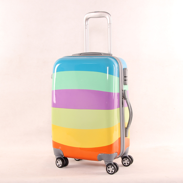 Colorful Printing Fashionable Best Lightweight Travel Luggage Hard Shell Carry on PC Luggage