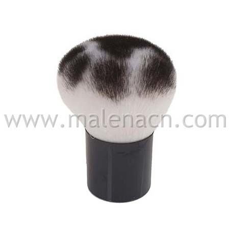 Kabuki Cosmetic Brush with Leopard Pattern