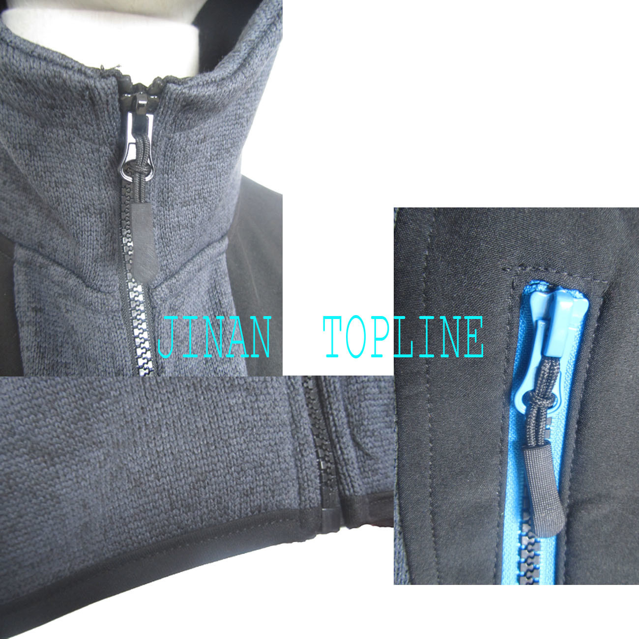 Cationic Dyed Polar Fleece Micro Fleece Hoody Stitching Color Wind-Proof Casual Jacket