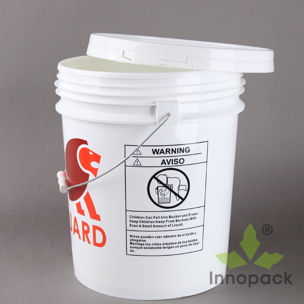 19L Printed Food Grade 5 Gallon Plastic Buckets with Lid