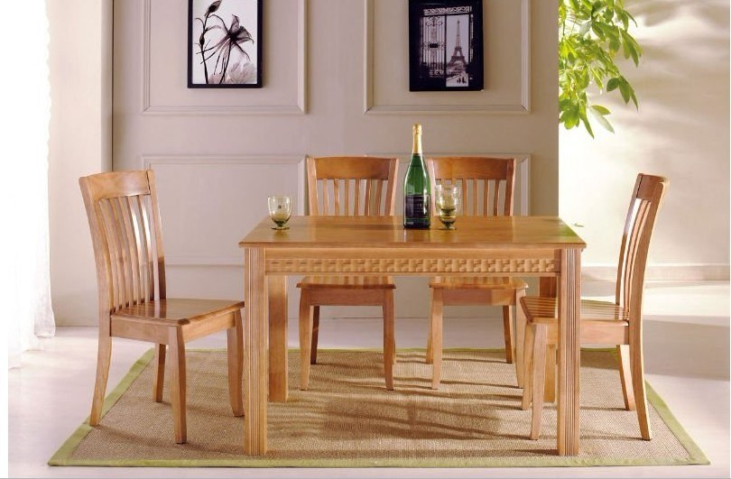 Wood Dining Room Furniture, Dining Tables, Solid Wood Tables (DTS-1290 ...