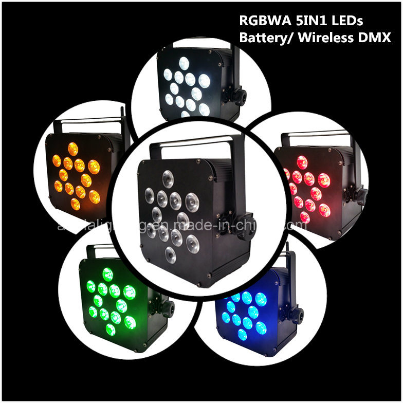12X10W RGBWA 5in1 LED Battery Wireless PAR Spot Light Wedding Party
