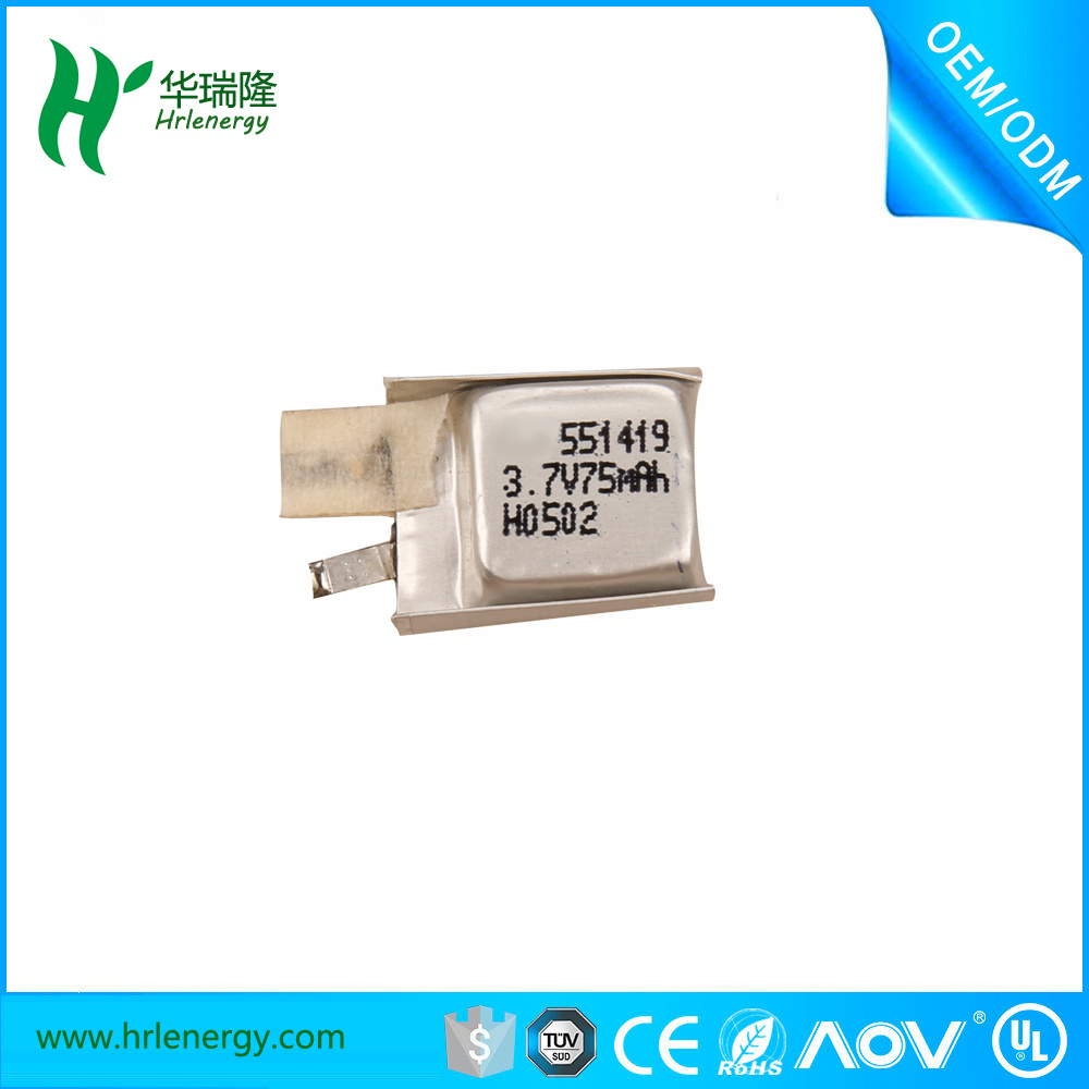 Small Size 551419 3.7V Lithium Polymer Battery 200mAh