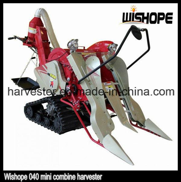 Crawler 0.4kg/S Feeding Capacity Mini Combine Harvester