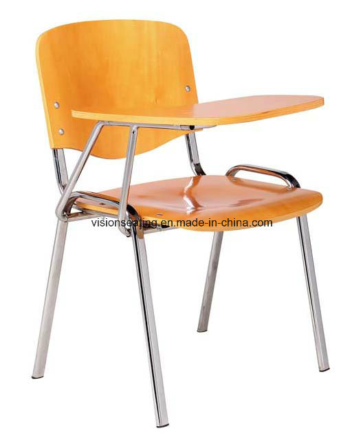 Wooden Student School Classroom Chair with Writing Table (7103)