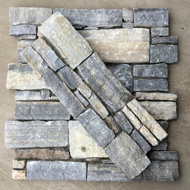 China Natural Blue Quartzite Cement Wall Panel