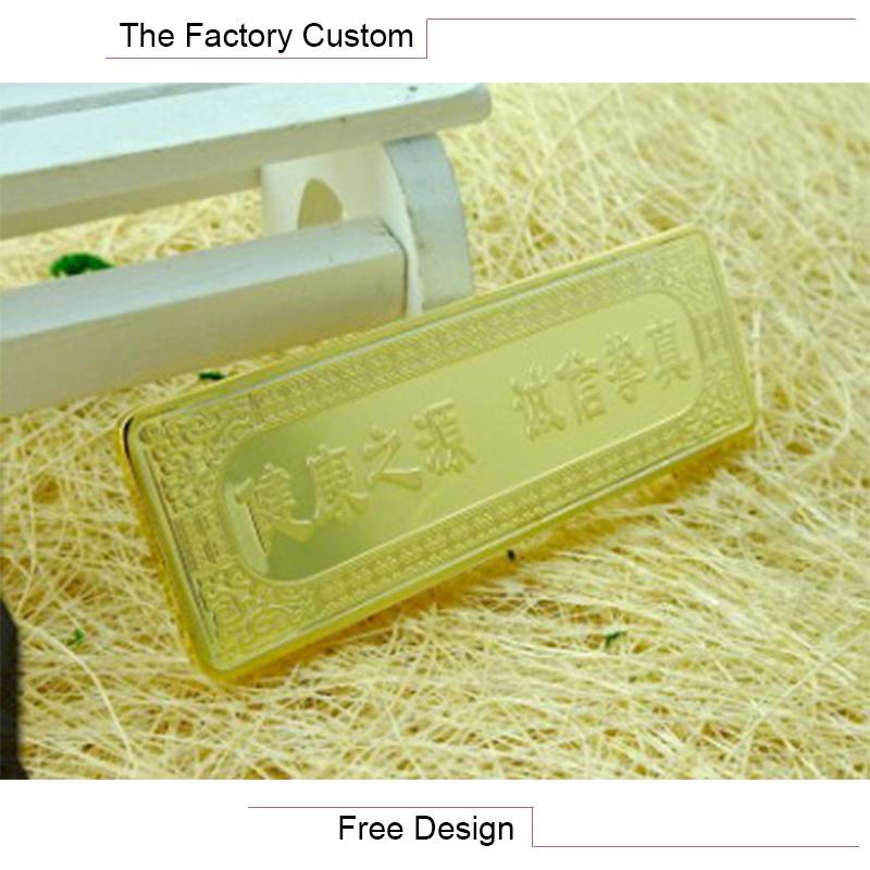 Promotion Gift Commemorative Gold Bars Customized