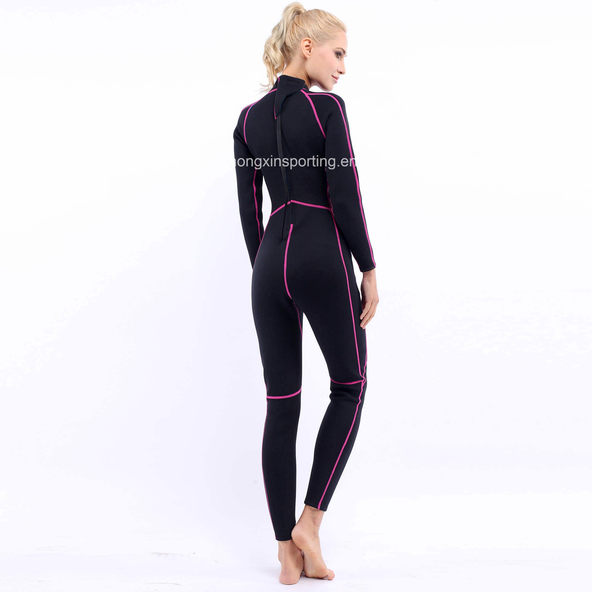 Women`S Long Neoprene Surfing Wetsuit with Black Nylon Both Sides (HX-L0172)
