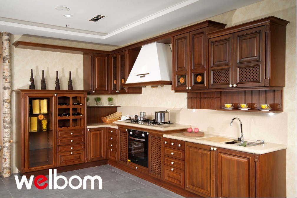 High Quality Solid Wood Kitchen Cabinet Munich Photos Pictures