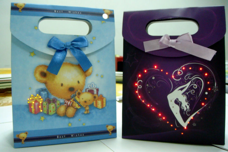 Fiber Optics LED Flashing Gift Bag/Paper bag