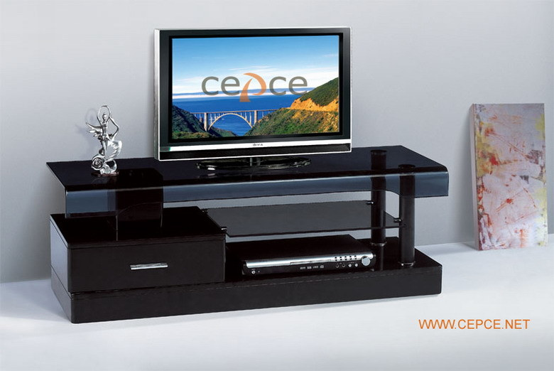 china luxury tempered glass lcd tv table tv3398 china lcd tv stand lcd tv table. Black Bedroom Furniture Sets. Home Design Ideas
