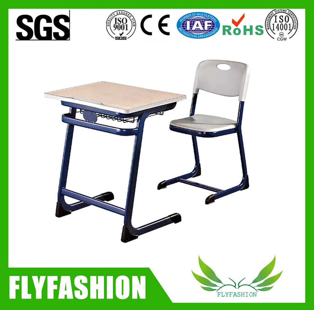 Fashion Single School Classroom Student Adjustble Desk with PE Chair