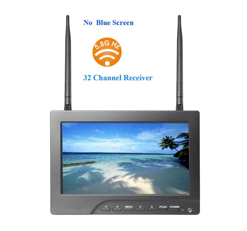 No Blue Screen 7 Inch Fpv Monitor Built in 32 Channel AV Receiver