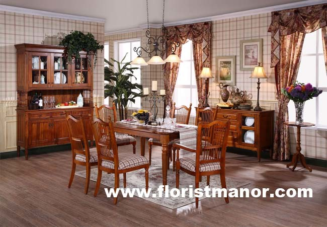 China Solid Wood Home Dining Room Furniture Set (DM01) - China Wood ...