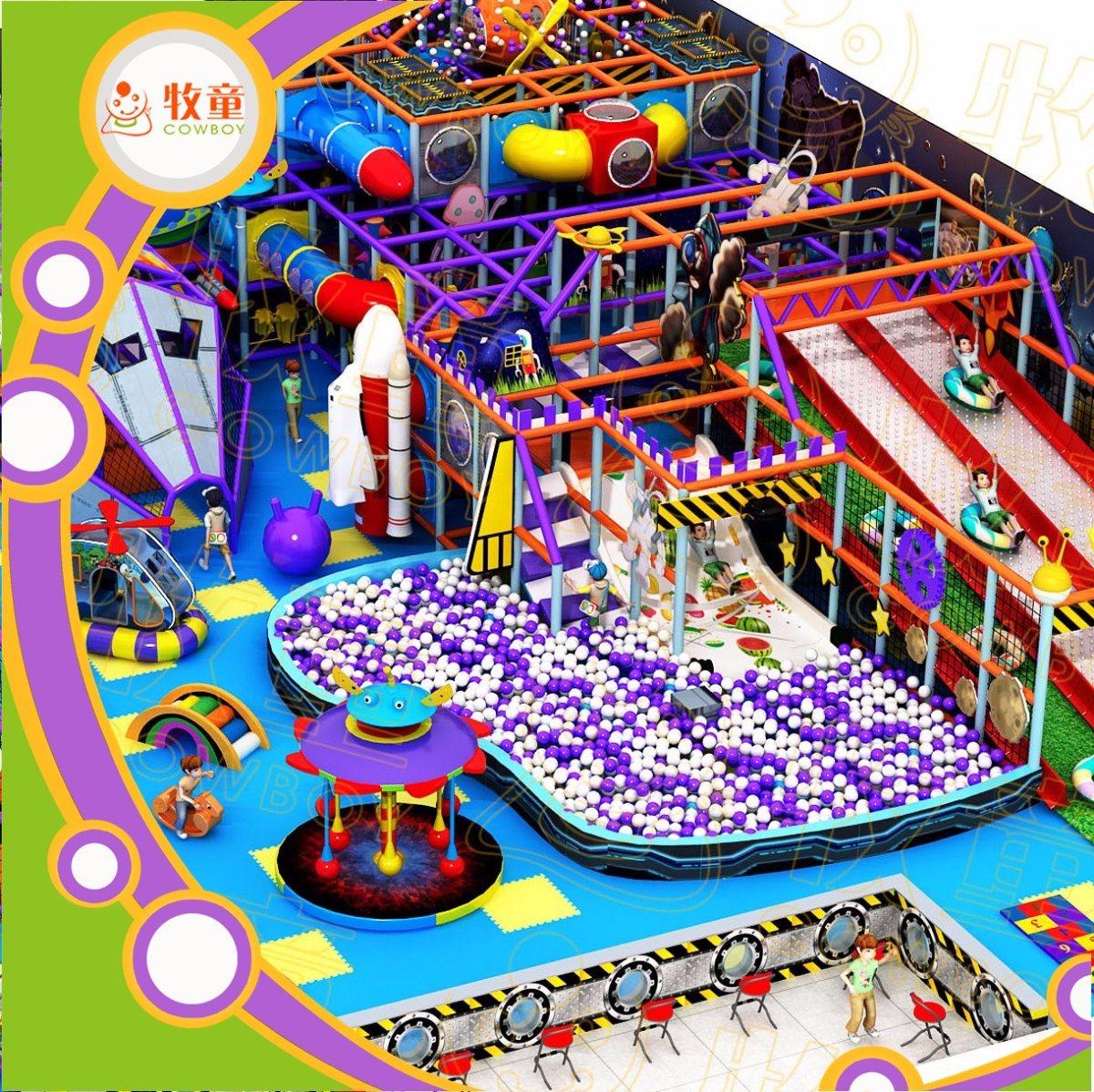 Kids Zone New Design Guangzhou China Cowboy Toys Factory Soft Indoor Playground