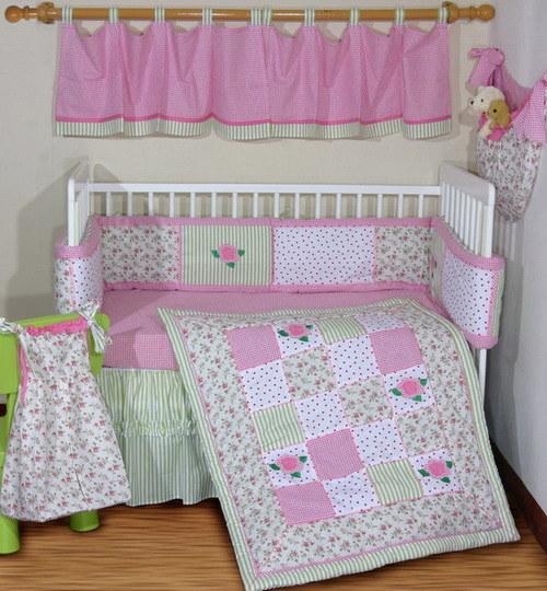 China Rose Crib Bedding Set s & Made in