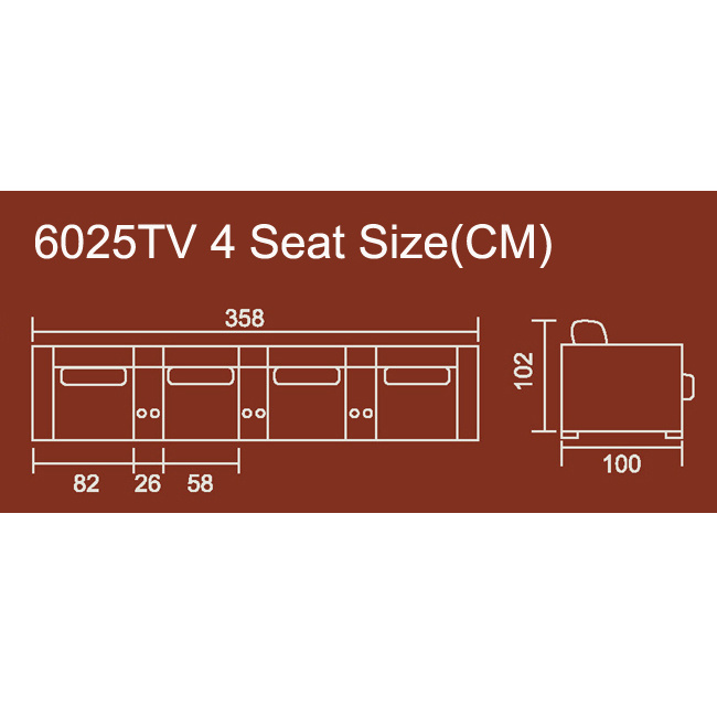 Luxury VIP Cinema Recliner Sofa 6025TV