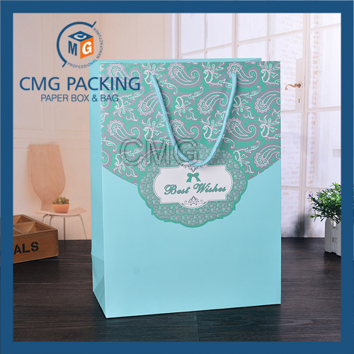 Romantic Tiffany Blue Wedding Packing Paper Bag (CMG-MAY-056)