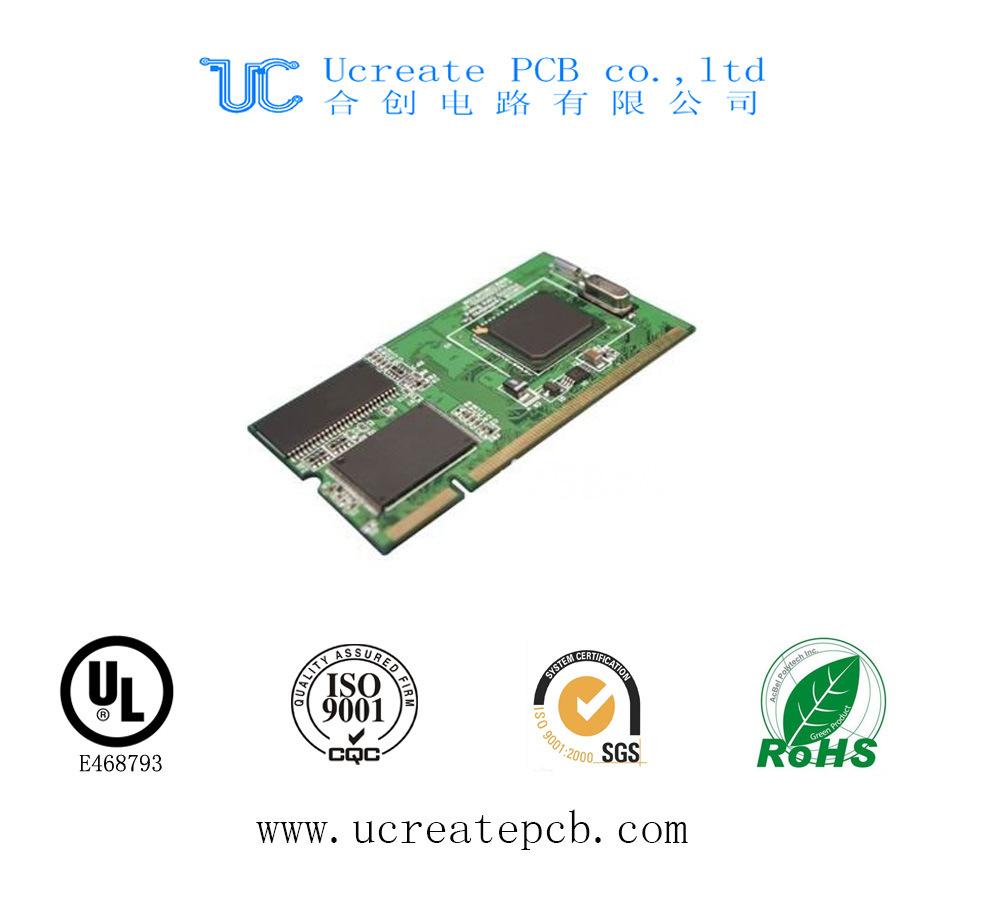 Fr4 PCB for CRT Color TV with Green Solder Mask
