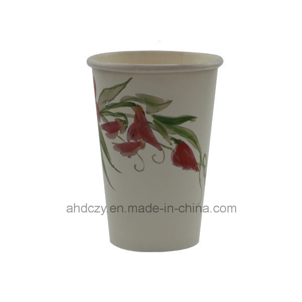 Factory Direct Sale Disposable 12oz Printed Paper Coffee Cup for Drinking