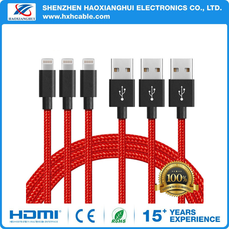 Colorful 2.1A USB Data Charging Cable for iPhone Accessories
