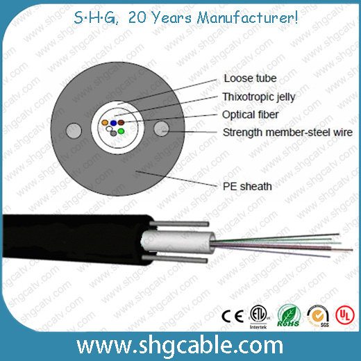 2-12 Fibers Unitube Outdoor Fiber Optic Cable (GYXTY)