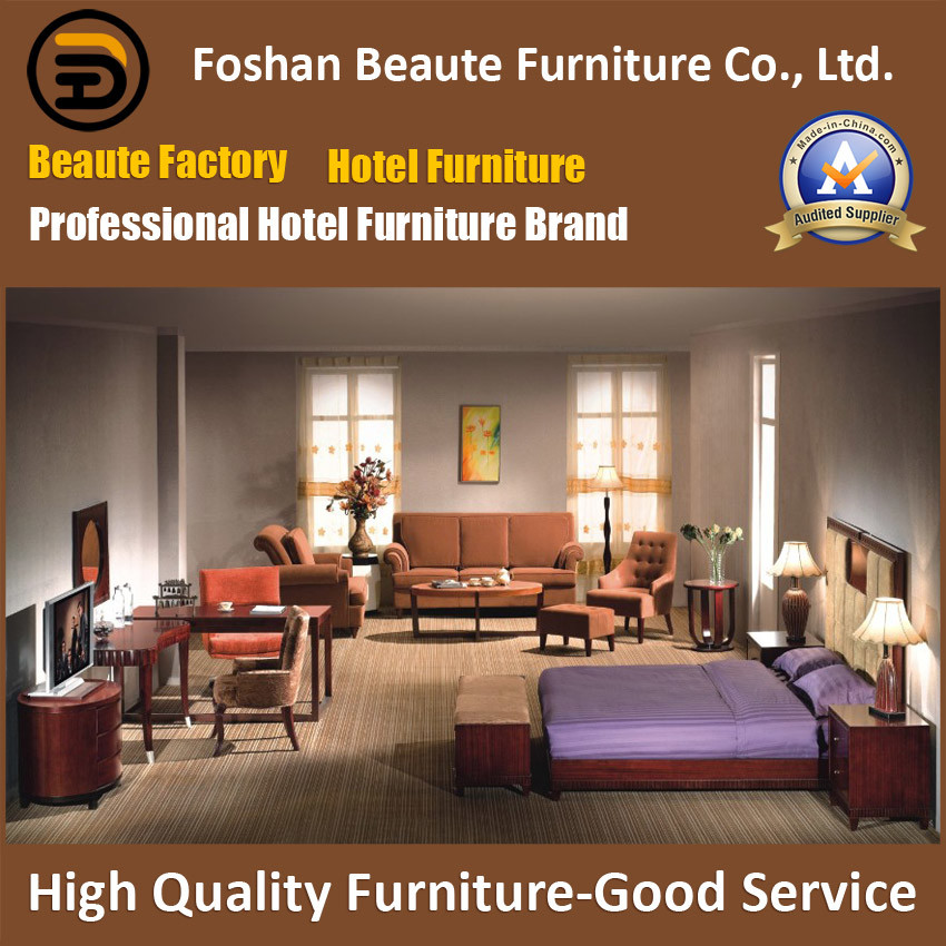 Hotel Furniture/Luxury King Size Hotel Bedroom Furniture/Double Hospitality Guest Room Furniture/Restaurant Furniture (GLB-0109819)