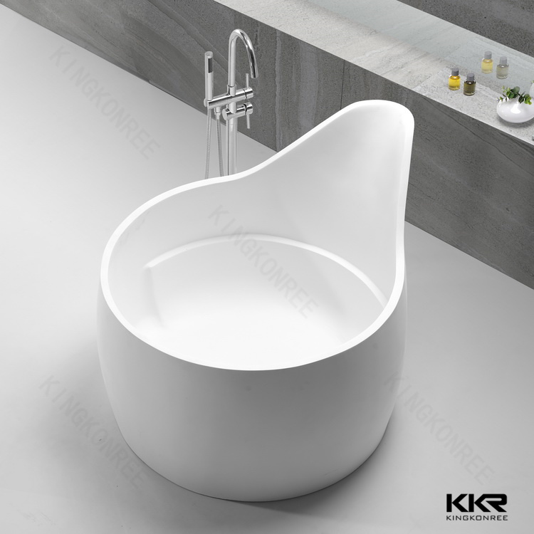 2017 New Design White Solid Surface Freestanding Bathtub (BT170803)